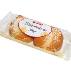 Thurner Butterbriochknopf mit Hagelzucker